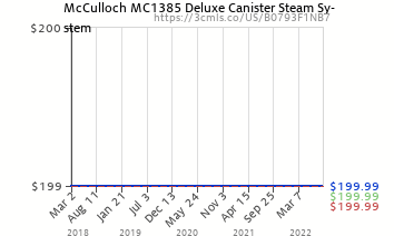 McCulloch MC1385 Deluxe Canister Steam System (B0793F1NB7